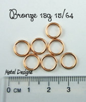 "Bronze 18g 15/64"" Jump Rings - Saw Cut Premium Jump RIngs"