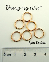 "Bronze 18g 19/64"" Jump Rings - Saw Cut Premium Jump RIngs"