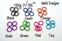New Anodized Aluminum Jump Rings 18 Gauge 7/32""