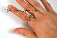 Lucky 7 Finger Ring Kit - Pattern by Rebeca Mojica - Kit only - Instructions are FREE download!