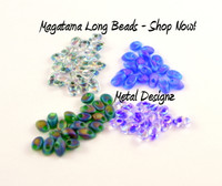 Bulk Long Magatama Beads - 25 Gram bags - Great for Shaggy Loops