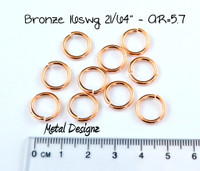 "Bronze Jump Rings 16 Gauge 21/64"" id."