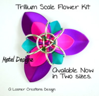 Trillium Scale Flower Kit - makes 10 pieces - No Tutorial Included