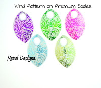 Wind Engraved Anodized Aluminum Large Scales - Premium Colours