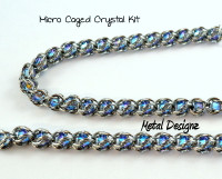 Micro Caged Crystal Kit - Makes 10 inches of Chain - No tutorial included