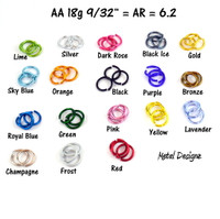 Anodized Aluminum Jump Rings 18 Gauge 9/32""