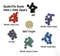 CzechMates QuadraTile Bead - 6mm - 10g bag