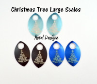 Christmas Tree Engraved Anodized Aluminum Large Scales