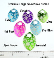 Snowflake Engraved Anodized Aluminum Large Scales - Premium Colours