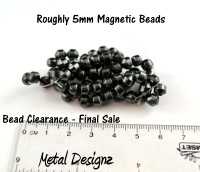 Magnetic Beads - CLEARANCE - 5mm cone shaped rounds