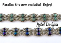 Parallax Bracelet kit- Stainless Steel & Quadralentil Beads