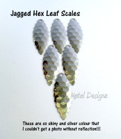 Leaf Scales - Jagged leaf Shape - Hexagon Pattern texture