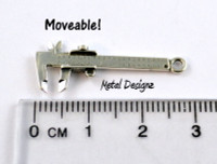 Sterling Silver Charm - Caliper that moves!