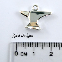 Sterling Silver Charm - Anvil