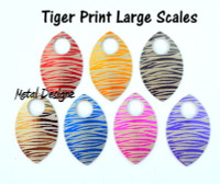 Tiger Print Engraved Anodized Aluminum Large Scales