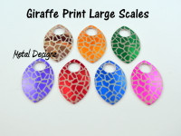 Giraffe Skin Print Engraved Anodized Aluminum Large Scales