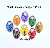 Leopard Engraved Anodized Aluminum Small Scales - Sold individually
