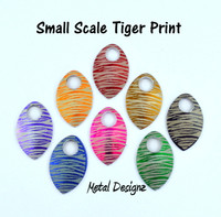 Tiger Print Engraved Anodized Aluminum Small Scales - Sold individually