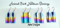 Niobium Earrings - Animal Prints!