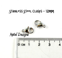 Stainless Steel Clasp 12mm