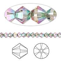 Swarovski Crystal, 4mm  bicone (48pk), Crystal Paradise Shine 2x