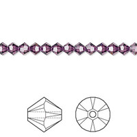 Swarovski Crystal, 4mm  bicone (48pk), Amethyst