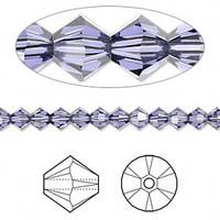 Swarovski Crystal, 4mm  bicone (48pk), Provence Lavender