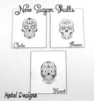 Laser Cut Texture Paper - Small Skull Set of Six!