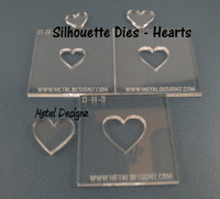 Silhouette Heart Die set of 3