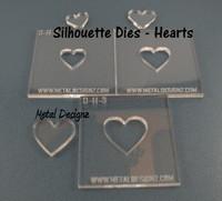 Silhouette Heart Die set of 3