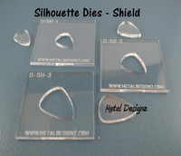 Silhouette Dies - Shield Collection - 3 dies