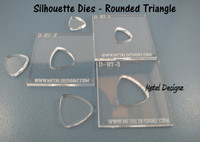Silhouette Dies - Rounded Triangle Collection - 3 dies