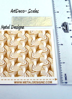 Laser Cut Texture Paper - Art Deco Scales
