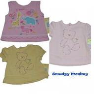 Little Me Teddy Bear Zoo Giraffe Elephant Baby Girl 3 months NWT $18 Pink Yellow