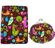 Fluff's Birdsville Passport Wallet and Coin Purse - 2 Piece Gift Set
