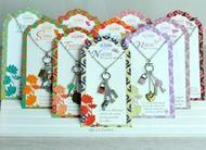 Jilzara Charm Necklace People We Love Heart Lock Key Blue Pink Green Red Purple