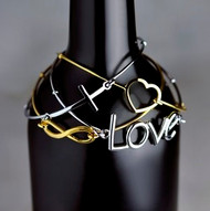 Jilzara's single-wire bangle bracelets are gorgeous alone or stacked with other bracelets!