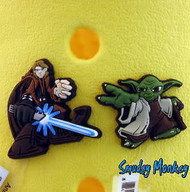 Star Wars Jibbitz Shoe Charms - authentic and new with tags! Yoda and Anakin Skywalker. Rare and hard to find.