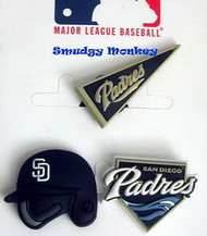 Authentic MLB Licensed Jibbitz Shoe Charms for Crocs, San Diego Padres