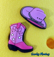 Jibbitz Pink Cowgirl Hat and Boot Set