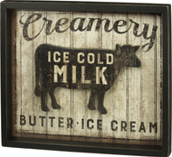 Urban Farmhouse Wood Sign Creamery Cow