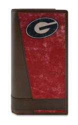 UGA Bulldogs Vintage Logo Roper Wallet - Checkbook Style
