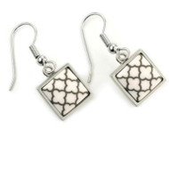 Jilzarah's Square Bezel Latte Earrings - On Trend