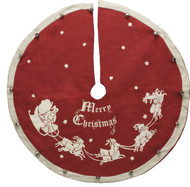 """Small tree skirt. 24"""" Diameter. Perfect for small, mini or table top trees!"""