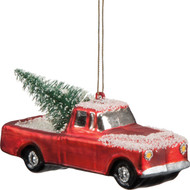 Bringing home the Christmas tree! This nostalgic old pickup will be a charming addition to your tree.