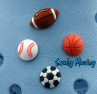 Jibbitz for the sports enthusiast - football, baseball, basketball, soccer