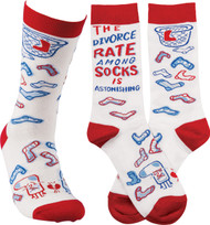 LOL Novelty Socks - The Divorce Rate Among Socks Is Astonishing!