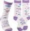 Follow That Unicorn LOL Socks from Primitives By Kathy