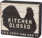 Let 'em know the Kitchen Closed with this funny rustic box sign featuring a rooster silhouette