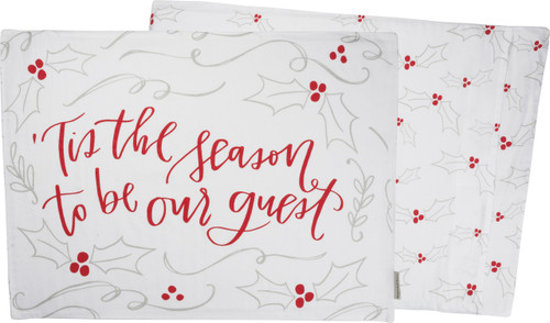 Tis The Season To Be Our Guest - Primitives By Kathy Holiday Pillow Cases